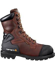 "Carhartt 8"" Brown CSA Work Boot - Safety Toe"