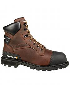 "Carhartt 6"" Brown CSA Work Boot - Safety Toe"