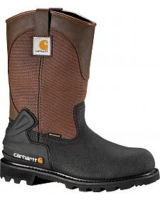 "Carhartt 11"" Insulated Brown CSA Certified Work Boots - Steel Toe"