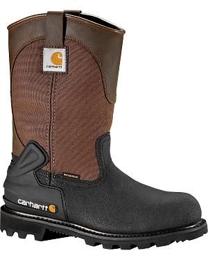 "Carhartt 11"" Insulated Brown CSA Certified Work Boots - Steel Toe"