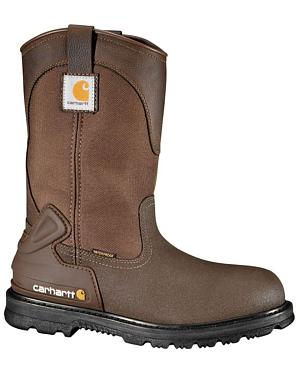 "Carhartt 11"" Bison Waterproof Mud Wellington Work Boots - Safety Toe"