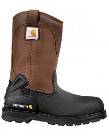 "Carhartt 11"" Insulated Brown Work Boots - Safety Toe"