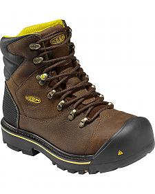 "Keen Men's Milwaukee 6"" Work Boots - Round Toe"