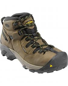 Keen Men's Detroit Mid Waterproof Boots - Steel Toe