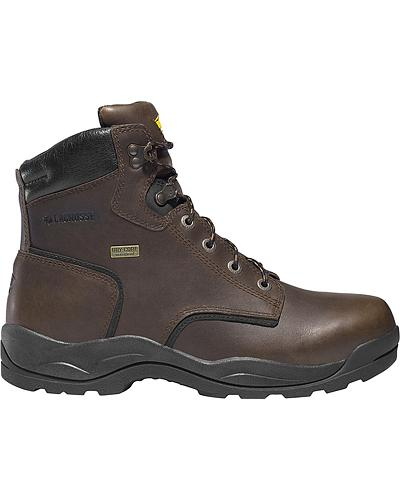 """LaCrosse Mens Quad Comfort 6"""" Dark Brown Lace-Up Work Boots Western & Country 483001"""