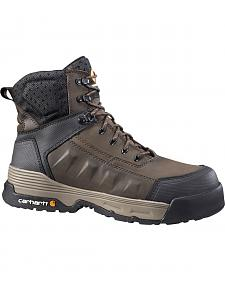 "Carhartt Men's 6"" Lace-Up Waterproof Work Boots - Composition Toe"