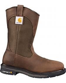 Carhartt Dark Bison Brown Wellington Work Boots - Steel Toe