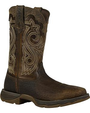Durango Womens Lady Rebel Steel Toe Cowgirl Boots - Square Toe