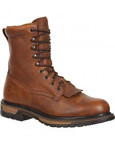 Rocky Original Ride Steel Toe Western Lacer Work Boots