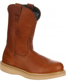 Georgia Farm and Ranch Wellington Work Boots - Round Toe