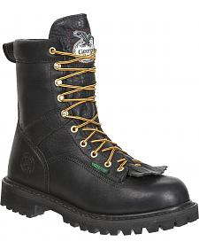 Georgia Waterproof Low Heel Logger Boots