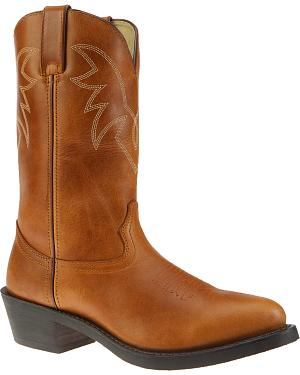 Durango Oiled Peanut Leather Western Boots - Medium Toe