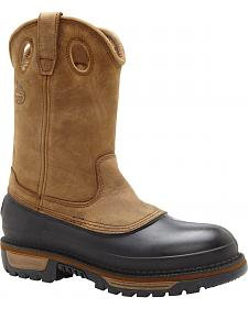 Georgia Muddog Wellington Pull On Work Boots - Round Toe