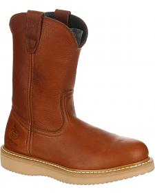 Georgia Wellington Wedge Work Boots - Steel Toe