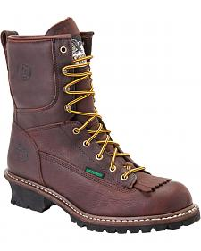 Georgia Waterproof Logger Boots - Round Toe