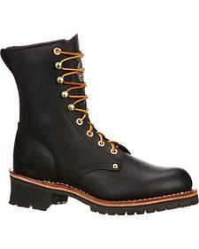 Georgia Logger Work Boots - Round Toe