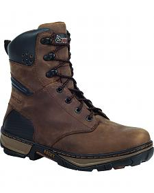 "Rocky 8"" Forge Waterproof Work Boots - Round Toe"