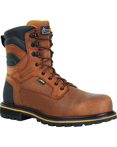 Rocky Governor Gore-Tex Insulated Work Boots Round Toe Western & Country RKYK060