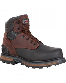 "ROCKY� Men's Elements Block Steel Toe Waterproof 6"" Work Boots"