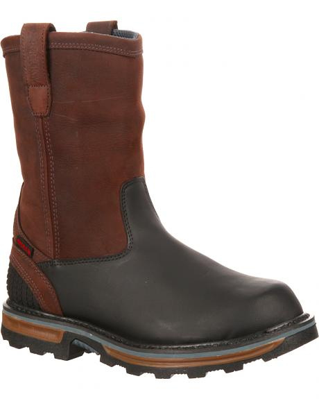 Rocky Elements Block Waterproof Pull-On Boots - Round Toe
