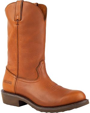 Durango Tan SPR Leather Farm and Ranch Boots - Round Toe