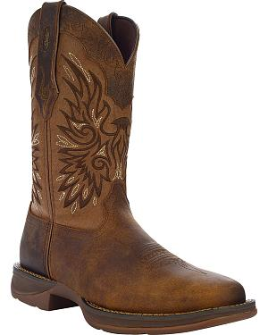 Durango Rebel Wingman Western Boots - Square Toe