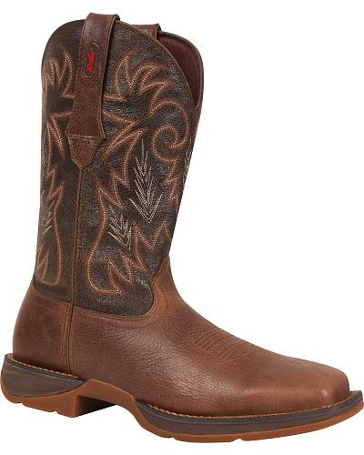 Durango Rebel Pull-On Western Boots Square Toe Western & Country DWDB013