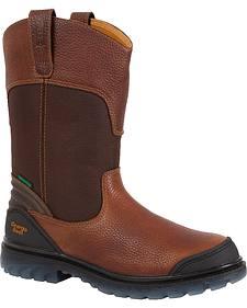 "Georgia Boots Zero Drag 11"" Pull-On Work Boots - Steel Toe"