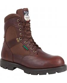 "Georgia Homeland 8"" Insulated Waterproof Work Boots - Round Toe"