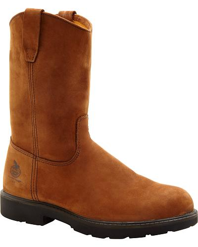 Georgia Wellington Pull-On Work Boots Safety Toe Western & Country G4673