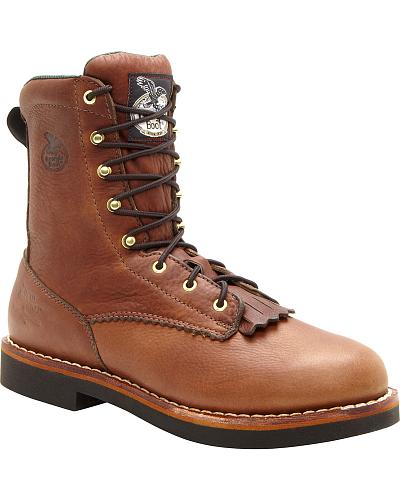 Georgia Farm and Ranch Lacer Work Boots Round Toe