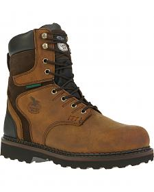 "Georgia Brookville Waterproof 8"" Work Boots"