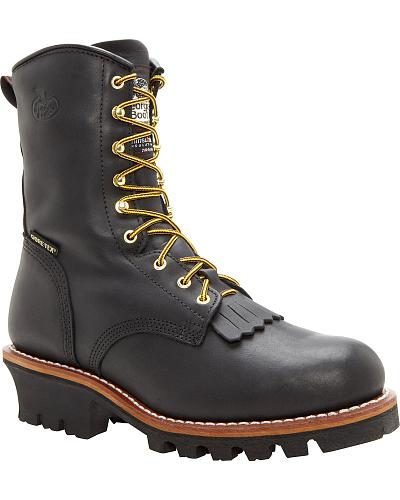Georgia Gore Tex Waterproof Insulated Logger Boots Steel Toe