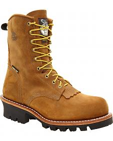 Georgia Insulated Gore-Tex Waterproof Logger Work Boots - Steel Toe