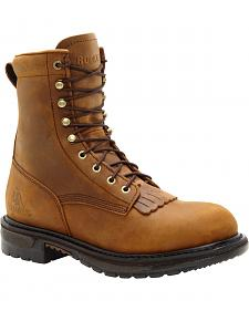 "Rocky Original Ride Waterproof 8"" Lacer Boots - Round Toe"
