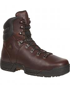 Rocky Men's MobiLite Steel Toe Waterproof Oil-Resistant Work Boots