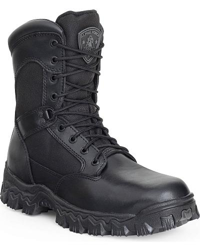 Rocky Mens Alphaforce Waterproof Zipper Composite Toe Duty Boots Western & Country FQ0006173