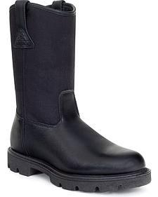 Rocky Pull On Wellington Boots - Round Toe