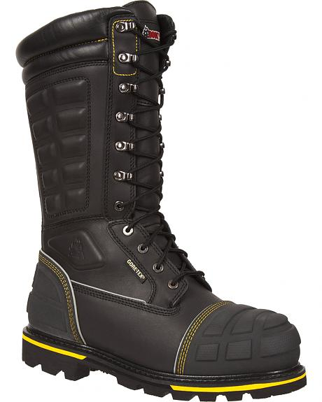 Rocky H.A.M. Gore-Tex Waterproof Insulated Puncture Resistant Miner Boots