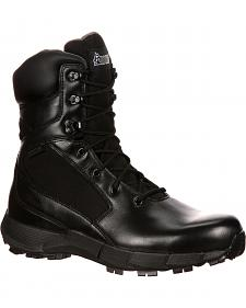 Rocky Broadhead Waterproof Side-Zip Duty Boots - Round Toe