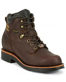 "Chippewa Men's 6"" Lace Up Boots - Round Toe"