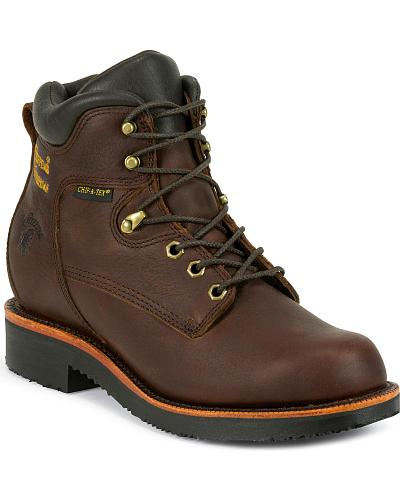 """Chippewa Mens 6"""" Rich Oiled Walnut Waterproof Lace Up Boots Steel Toe Western & Country 25251"""
