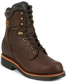 "Chippewa Men's 8"" Lace Up Boots - Round Toe"