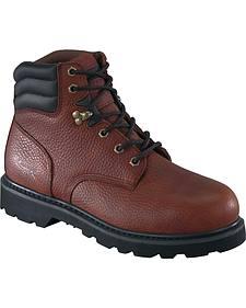 "Knapp Men's Backhoe 6"" Work Boots - Steel Toe"