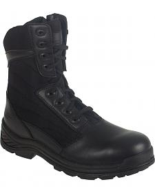 "Knapp Men's Tatical 8"" Zipper Work Boots - Round Toe"