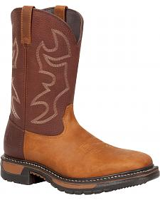 Rocky Men's Original Ride Steel Toe Western Boots