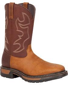 Rocky Men's Original Ride Steel Toe Western Boots