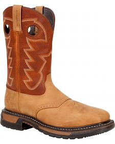 Rocky Men's Original Ride Steel Toe Waterproof Western Boots