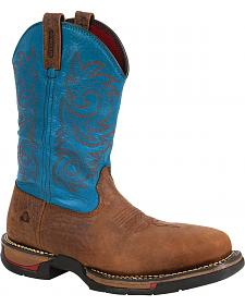 Rocky Men's Long Range Carbon Fiber Waterproof Western Boots