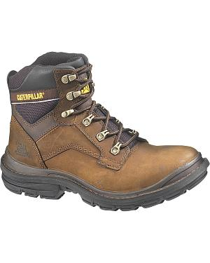 "Caterpillar Flexion Generator 6"" Lace-Up Work Boots - Round Toe"